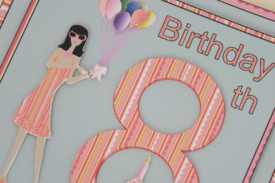 Personalised Age Related Female Birthday Cards